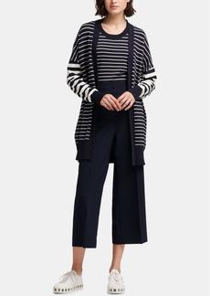 Dkny Long-Sleeve Striped Cardigan