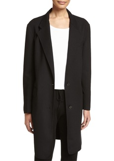 DKNY Long Tailored Wool-Blend Coat