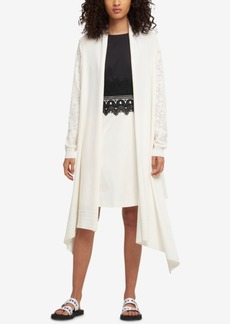 Dkny Open-Front High-Low Cozy Cardigan