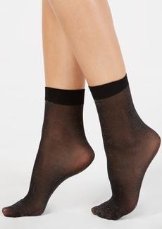 Dkny Lurex-Metallic Anklet Socks