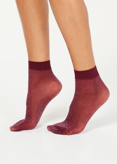 Dkny Lurex-Metallic Anklet Socks