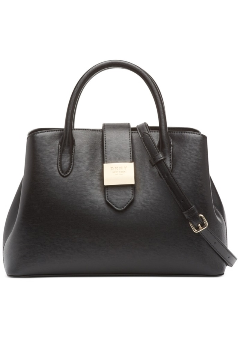 Dkny Lyla Leather Center-Zip Satchel, Created for Macy's
