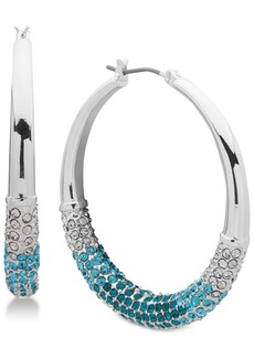"""Dkny Medium Ombre Pave Hoop Earrings, Created for Macy's 1-1/3"""""""