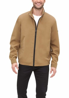 DKNY Men's All Man's Lightweight Water Resistant Jacket with Zip Out Hood
