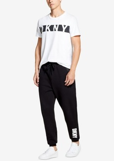 Dkny Men's Athleisure Relaxed-Straight Fit Logo-Print Joggers