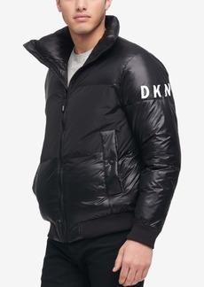 Dkny Men's Big & Tall Mixed-Media Puffer Jacket, Created for Macy's