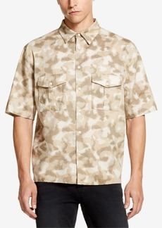Dkny Men's Camo-Print Woven Shirt, Created for Macy's