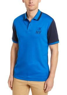 Dkny Men's Colorblocked Supima Cotton Polo Shirt