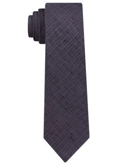 Dkny Men's Distressed Street Solid Slim Tie