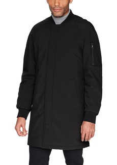 DKNY Men's Dougg Long Bomber Jacket