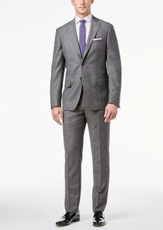 Dkny Men's Gray Donegal Slim-Fit Suit