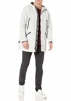 DKNY Men's Midlength Hooded Taslan Parka Jacket