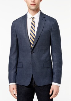 Dkny Men's Modern-Fit Blue Neat Diamond-Print Sport Coat