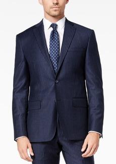 Dkny Men's Modern-Fit Navy Pinstripe Suit Jacket