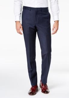 Dkny Men's Modern-Fit Navy Pinstripe Suit Pants