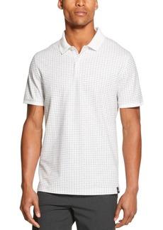 Dkny Men's Performance Stretch Square Print Polo Shirt