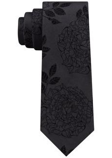 Dkny Men's Rose Tattoo Silk Slim Tie