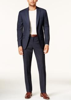 Dkny Men's Slim-Fit Blue Birdseye Suit