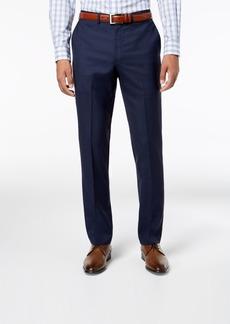 Dkny Men's Slim-Fit Blue Windowpane Suit Pants