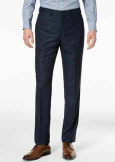 Dkny Men's Slim-Fit Blue/Tan Windowpane Suit Pants