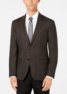 Dkny Men's Slim-Fit Chocolate/Blue Check Wool Sport Coat