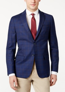 Dkny Men's Slim-Fit Dark Blue Check Jacket