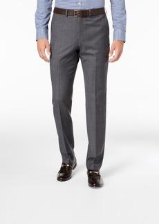 Dkny Men's Slim-Fit Gray Blue Tic Suit Pants