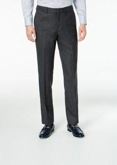 Dkny Men's Slim-Fit Gray/Blue Plaid Suit Pants