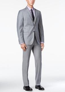 Dkny Men's Slim-Fit Light Gray Flannel Suit
