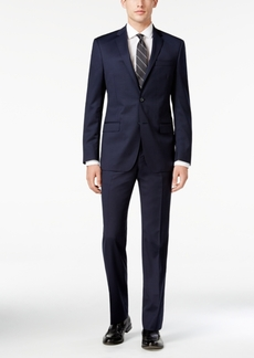 Dkny Men's Slim-Fit Navy Tonal Check Suit
