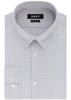 Dkny Men's Slim-Fit Performance Active Stretch Check Dress Shirt, Created for Macy's