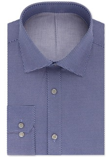 Dkny Men's Slim-Fit Purple Print Dress Shirt