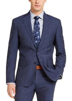 Dkny Men's Slim-Fit Stitch Navy Blue/Blue Stripe Suit Jacket
