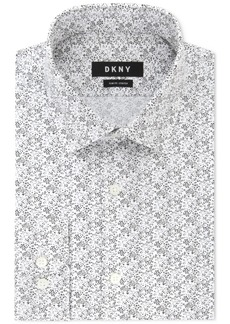 Dkny Men's Slim-Fit Stretch Print Dress Shirt, Created for Macy's