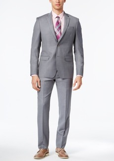 Dkny Men's Slim-Fit Twill Light Gray Suit