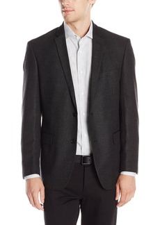 DKNY Men's Solid 2 Button Side Vent Slim Sport Coat