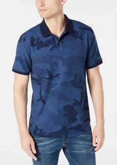 Dkny Men's Stretch Performance Camo-Print Pique Polo Shirt
