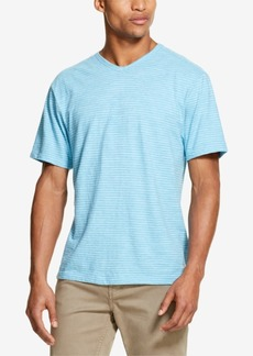 Dkny Men's Twisted Textured Stripe V-Neck T-Shirt, Created for Macy's