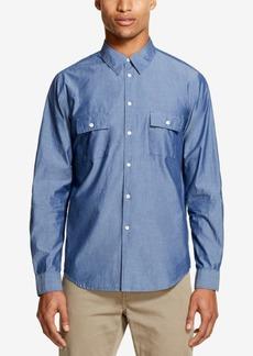 Dkny Men's Two Pocket Indigo Woven Shirt, Created for Macy's