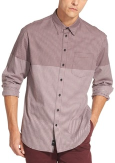 Dkny Men's Two Tone Gingham Shirt