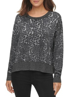 DKNY Metallic Animal Print Sweater
