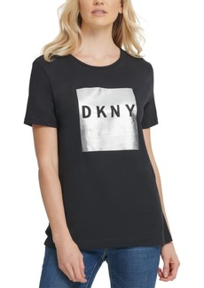Dkny Metallic Block-Logo T-Shirt