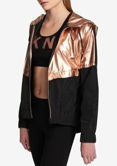 Dkny Sport Metallic Colorblocked Active Jacket