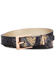 Dkny Metallic Snake-Embossed Belt