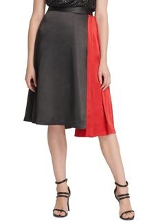 Dkny Mixed-Media Asymmetrical Skirt