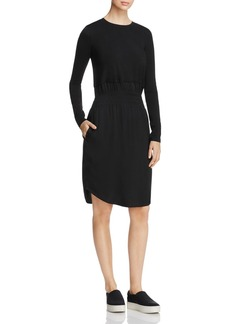 DKNY Mixed Media Crewneck Dress