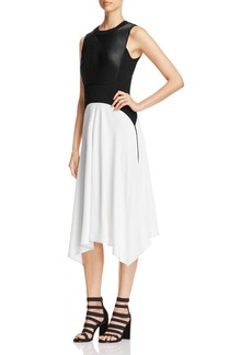 DKNY Mixed Media Handkerchief Dress