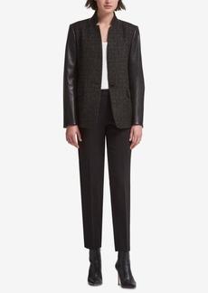 Dkny Mixed-Media Jacket, Created for Macy's