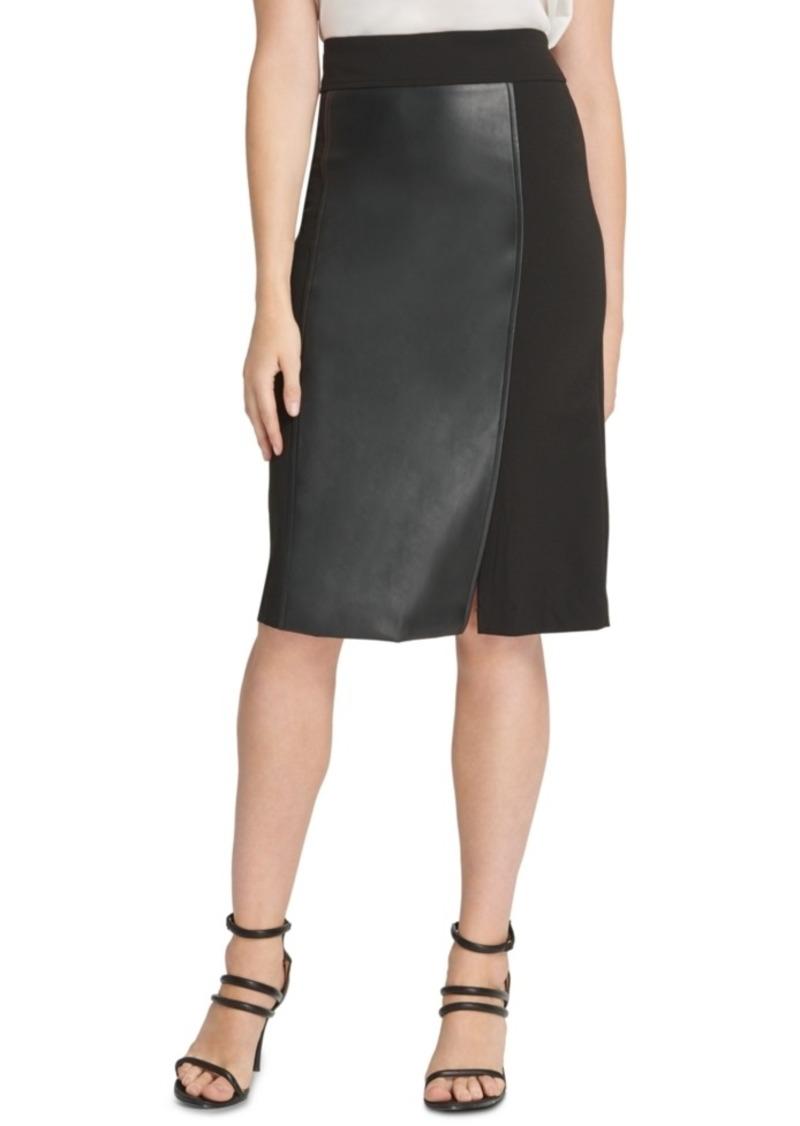 Dkny Mixed-Media Pencil Skirt