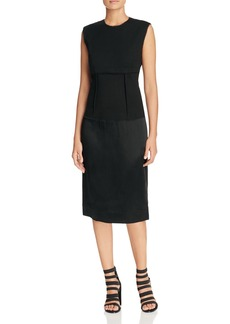 DKNY Mixed Media Sheath Dress - 100% Exclusive
